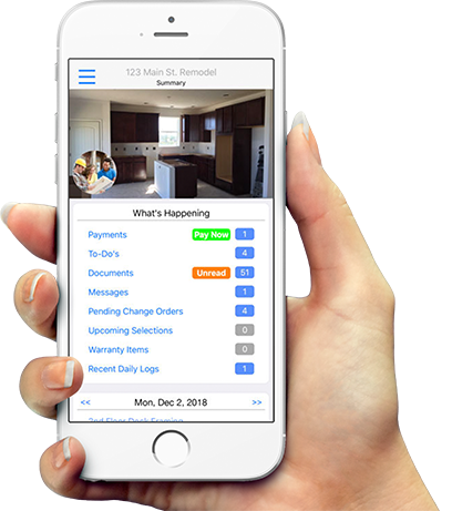 Follow along with your remodel on <span>our MOBILE APP</span>